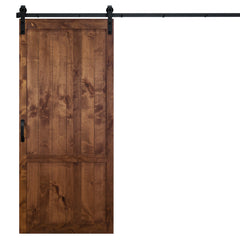 "Country Vintage Sliding Barn Door, Walnut, 36""W x 84""H, All Hardware Included"