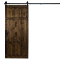 "Craftsman Sliding Barn Door, Dark Chocolate, 36""W x 84""H, All Hardware Included"