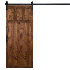 "Craftsman Sliding Barn Door, Walnut, 36""W x 84""H, All Hardware Included"