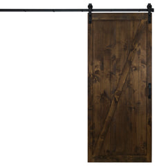"Classic Z Sliding Barn Door, Dark Chocolate, 36""W x 84""H, All Hardware Included"