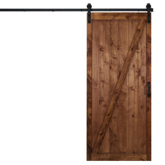 "Classic Z Sliding Barn Door, Walnut, 36""W x 84""H, All Hardware Included"