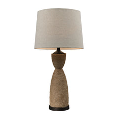 "32"" Transitional Wrapped Rope Table Lamp in Dark Brown And Sandstone"