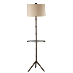 "59"" Transitional Stanton Floor Lamp In Dunbrook Finish With Glass Tray"