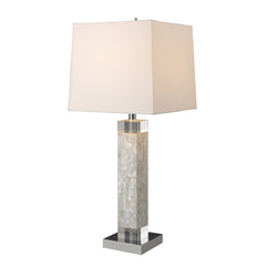 "32"" Luzerne Table Lamp - Mother Of Pearl w/ Milano Off White Shade"