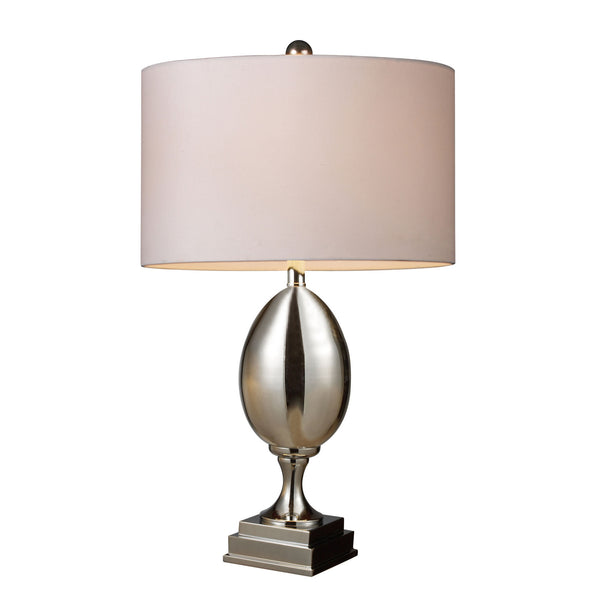 Waverly Table Lamp In Chrome Plated Glass With Milano Pure White Shade