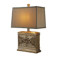 "25"" Laurel Run Table Lamp - Courtney Gold w/ Ria Bronze Shade & Cream Liner"