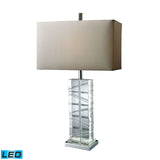 "Diamond Lighting 23"" Contemporary Avalon LED Table Lamp In Clear Crystal And Chrome"