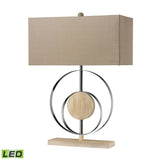 "Diamond Lighting 21"" Contemporary Shiprock Bleached Wood LED Table Lamp in Chrome"
