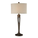 "35"" Transitional Martcliff Table Lamp in Burnished Bronze"
