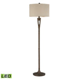 "Diamond Lighting 65"" Transitional Martcliff LED Floor Lamp in Burnished Bronze"