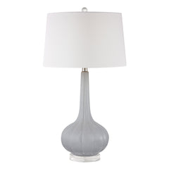 Abbey Lane Ceramic Table Lamp in Pastel Blue