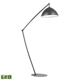 "Diamond Lighting 50"" Contemporary Industrial Elements Adjustable LED Floor Lamp in Matte Black"
