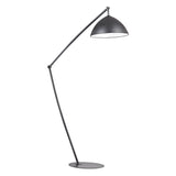 "50"" Contemporary Industrial Elements Adjustable Floor Lamp in Matte Black"