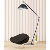 "Diamond Lighting 50"" Contemporary Industrial Elements Adjustable Floor Lamp in Matte Black"