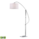 "Diamond Lighting 50"" Contemporary Assissi Adjustable LED Floor Lamp in Polished Nickel"