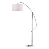 "50"" Contemporary Assissi Adjustable Floor Lamp in Polished Nickel"