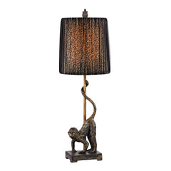 Aston Monkey Table Lamp in Bronze