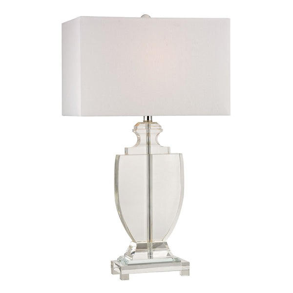 "26"" Transitional Avonmead Solid Clear Crystal Table Lamp"