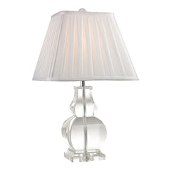 "19"" Transitional Downtown Solid Clear Crystal Table Lamp"