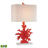 "Diamond Lighting 28"" Transitional Red Coral LED Table Lamp in Red"