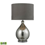 "Diamond Lighting 24"" Transitional Bubble Glass LED Table Lamp in Mercury Plate Finish"