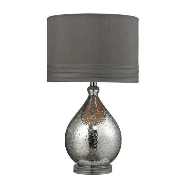 "24"" Transitional Bubble Glass Table Lamp in Mercury Plate Finish"