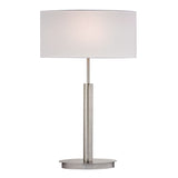 "24"" Contemporary Port Elizabeth Table Lamp in Satin Nickel"