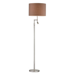 "60"" Beaufort Floor Lamp - Satin Nickel w/ Adjustable Reading Light"