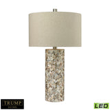 "Diamond Lighting 29"" Transitional Herringbone LED Table Lamp In Natural Mother of Pearl"