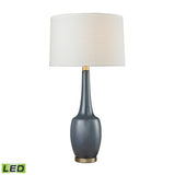 Diamond Lighting Modern Vase Ceramic LED Table Lamp in Navy Blue