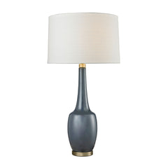 Modern Vase Ceramic Table Lamp in Navy Blue