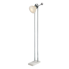 "61"" Contemporary Vintage Ball Handle Adjustable Floor Lamp in Polished Nickel"