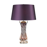 Vergato Free Blown Glass Table Lamp in Purple