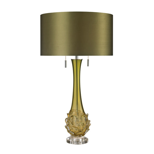 Vignola Free Blown Glass Table Lamp in Green
