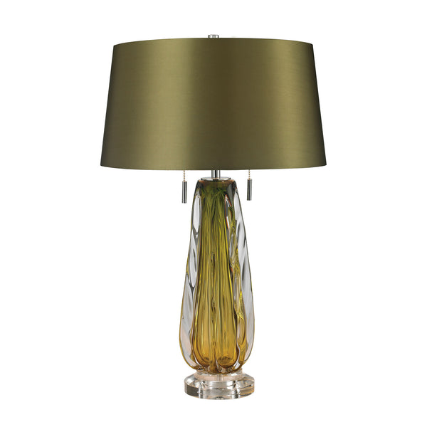 Modena Free Blown Glass Table Lamp in Green