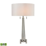 Diamond Lighting Bedford Solid Crystal LED Table Lamp in Polished Chrome