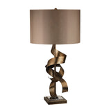 "29"" Contemporary Allen Metal Sculpture Table Lamp in Roxford Gold"