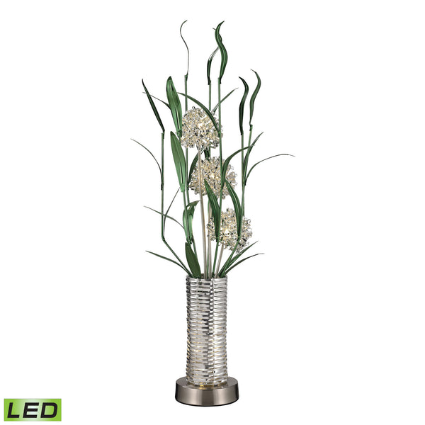 39'' Windbear Contemporary Floral Display Floor Lamp In Silver