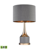 "Diamond Lighting 18.5"" Transitional Small Gold Cone Neck LED Lamp"