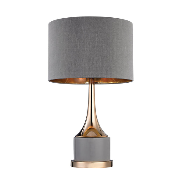 "18.5"" Transitional Small Gold Cone Neck Lamp"