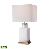 "Diamond Lighting 20.5"" Transitional Small White Cube LED Lamp"