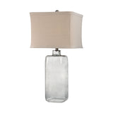 "31"" Transitional Hammered Grey Glass Lamp"