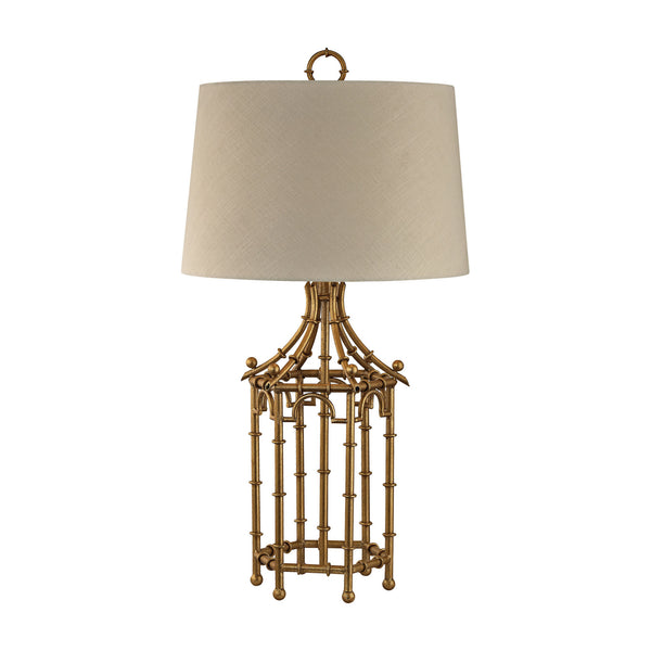 "32.25"" Traditional Bamboo Birdcage Lamp"