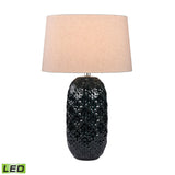 "Diamond Lighting 28"" Transitional Teal Ceramic Bun LED Table Lamp"