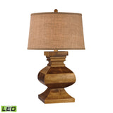 "Diamond Lighting 29"" Traditional Carved Wood LED Post Lamp"