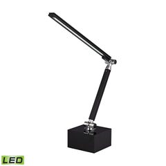 26.5'' Contemporary Tilting Bar Task Lamp in Black and Chrome