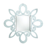 Contemporary White Wall Mirror