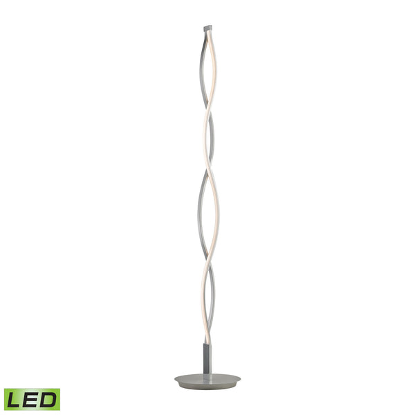 Twist 21 Watt LED Floor Lamp In Aluminum