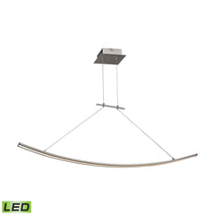Bow 28 Watt LED Pendant In Aluminum