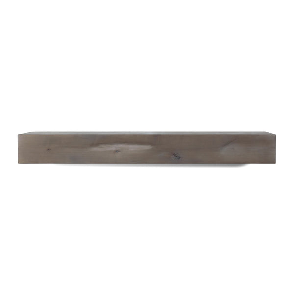 Modern Farmhouse Fireplace Mantel, Floating Shelf, Ash Gray Stain, Multiple Sizes